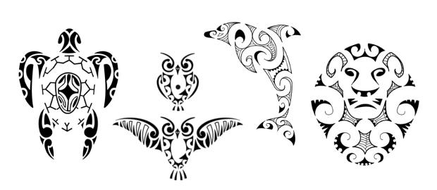 tatuaggi maori hanno origini antiche e sono densi di significato. I ...